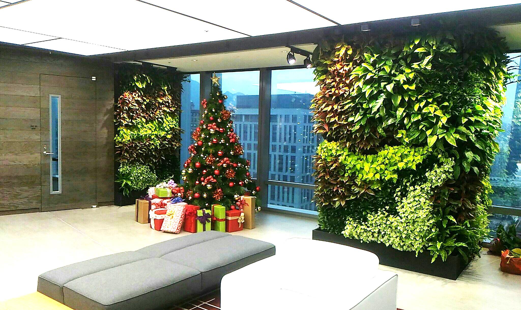 台北 微軟辦公室 綠牆